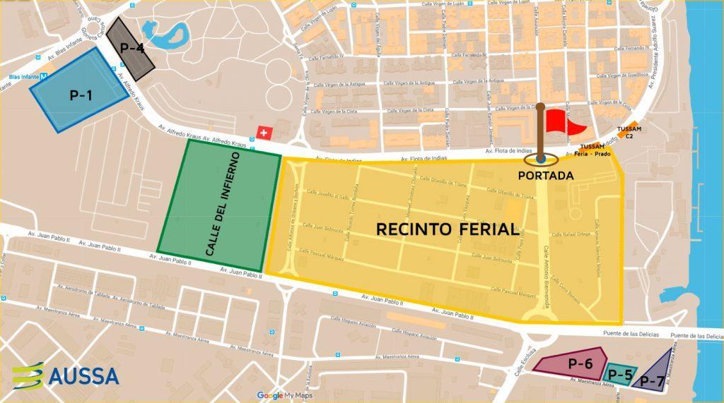 Mapa Feria Sevilla 2019.Aparcamientos Feria De Abril De Sevilla 2019 Feria De