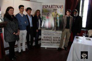 Presentación de la novillada Benéfica en Espartinas que se celebrará el 28 de Febrero