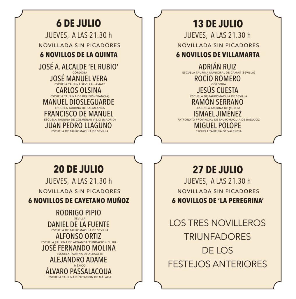 Presentados los carteles de las novilladas de promoción 2017. Real Maestranza de Sevilla