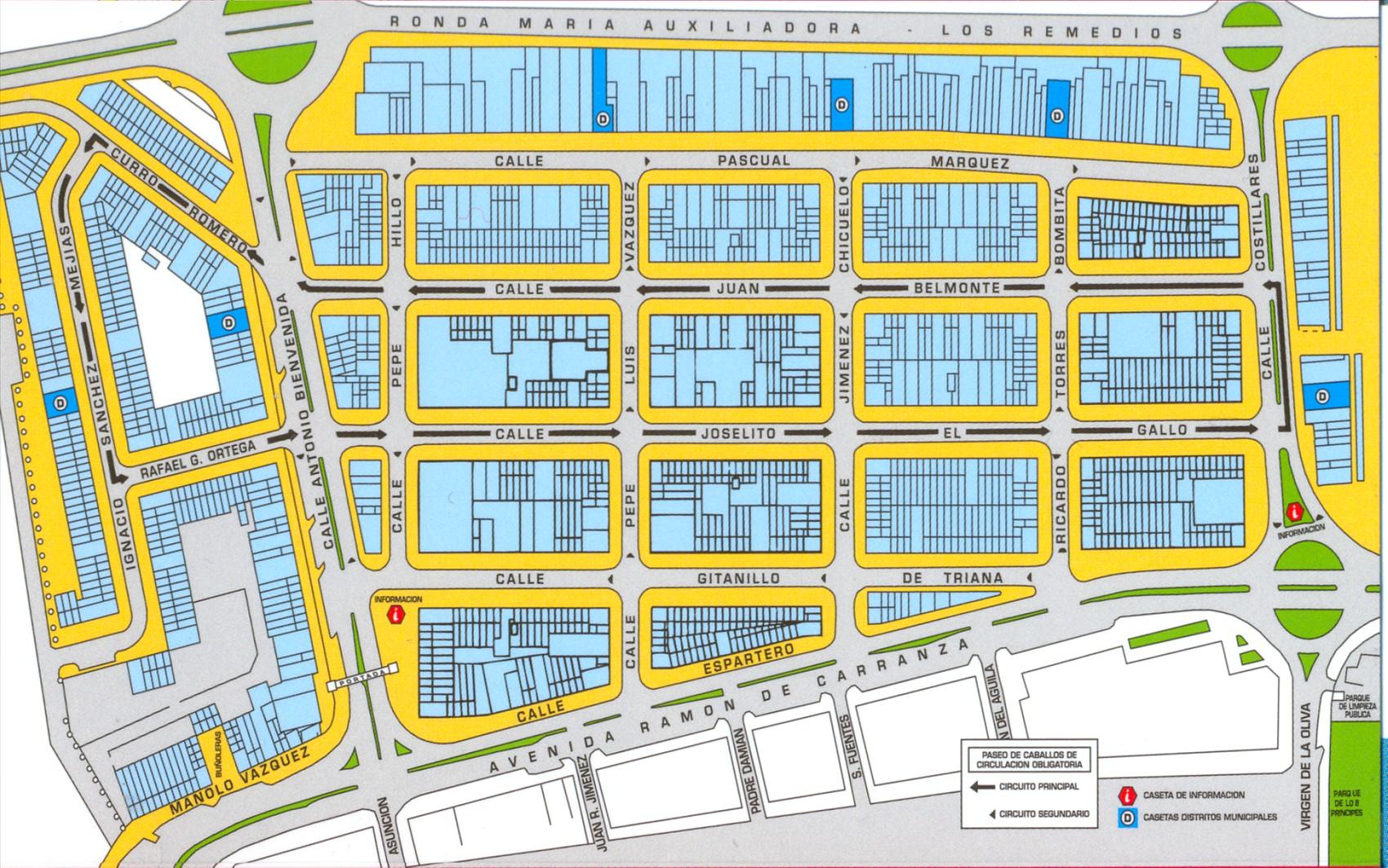 Mapa Feria Sevilla 2019.Plano Feria Big Feria De Abril De Sevilla 2020 Feria De